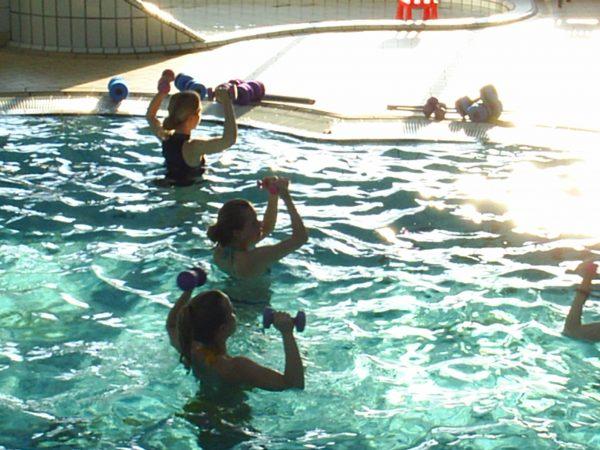 Tijdens een aquasport training