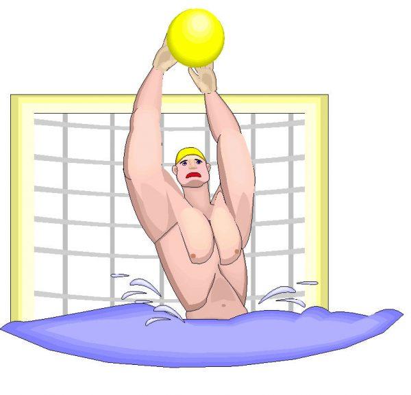 Waterpolo met een bal